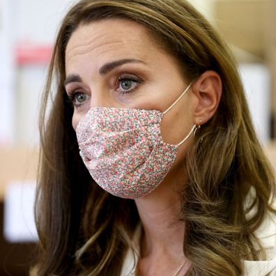 Kate Middleton wearing a face mask