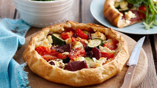 Free-form Mediterranean pie for $8.50
