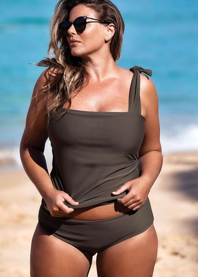 Fiona Falkiner in swimwear brand Saint Somebody's new campaign