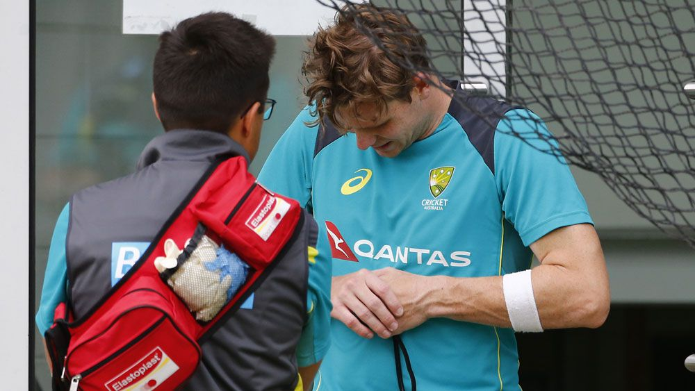 Australian skipper Steve Smith struck on hand at training but OK for Boxing Day Test