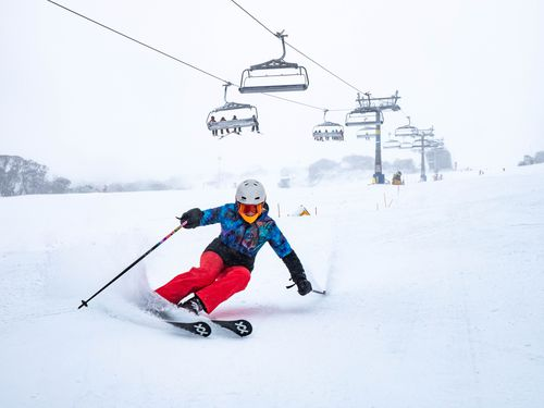 Temperatures are also expected to significantly drop heading into the weekend, allowing for resort staff to use artificial snow-making machines to add to the fun. Picture: Perisher.