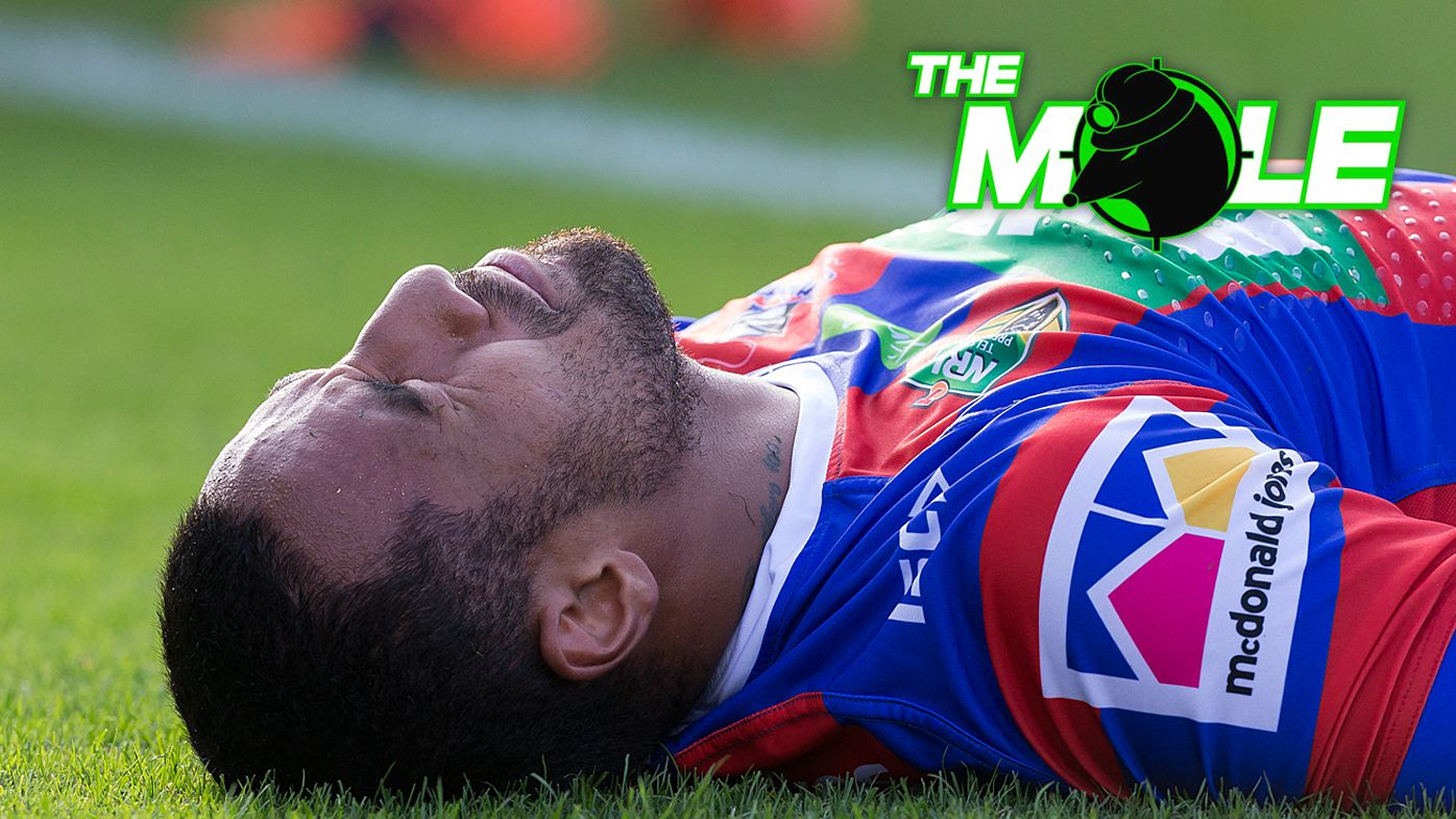 Newcastle Knights centre Tautau Moga to undergo two knee reconstructions