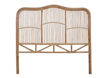 Natural Marley Rattan Bedhead — Temple & Webster