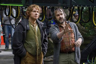 "After we witnessed Martin Freeman (Bilbo Baggins) chatting to director Peter Jackson about his character's motivations, it was obvious that Peter gave him a lot of freedom to change the scene.<br/><br/>""Sometimes [the scene] needs that,"" Martin said. ""And it's a collaborative process, obviously. Ideally, it's a collaborative process, and I think it works best when it is....Something that works okay when you read it to yourself is very, very different from playing it out."""