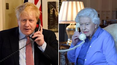 The Queen and Boris Johnson work from home during pandemic