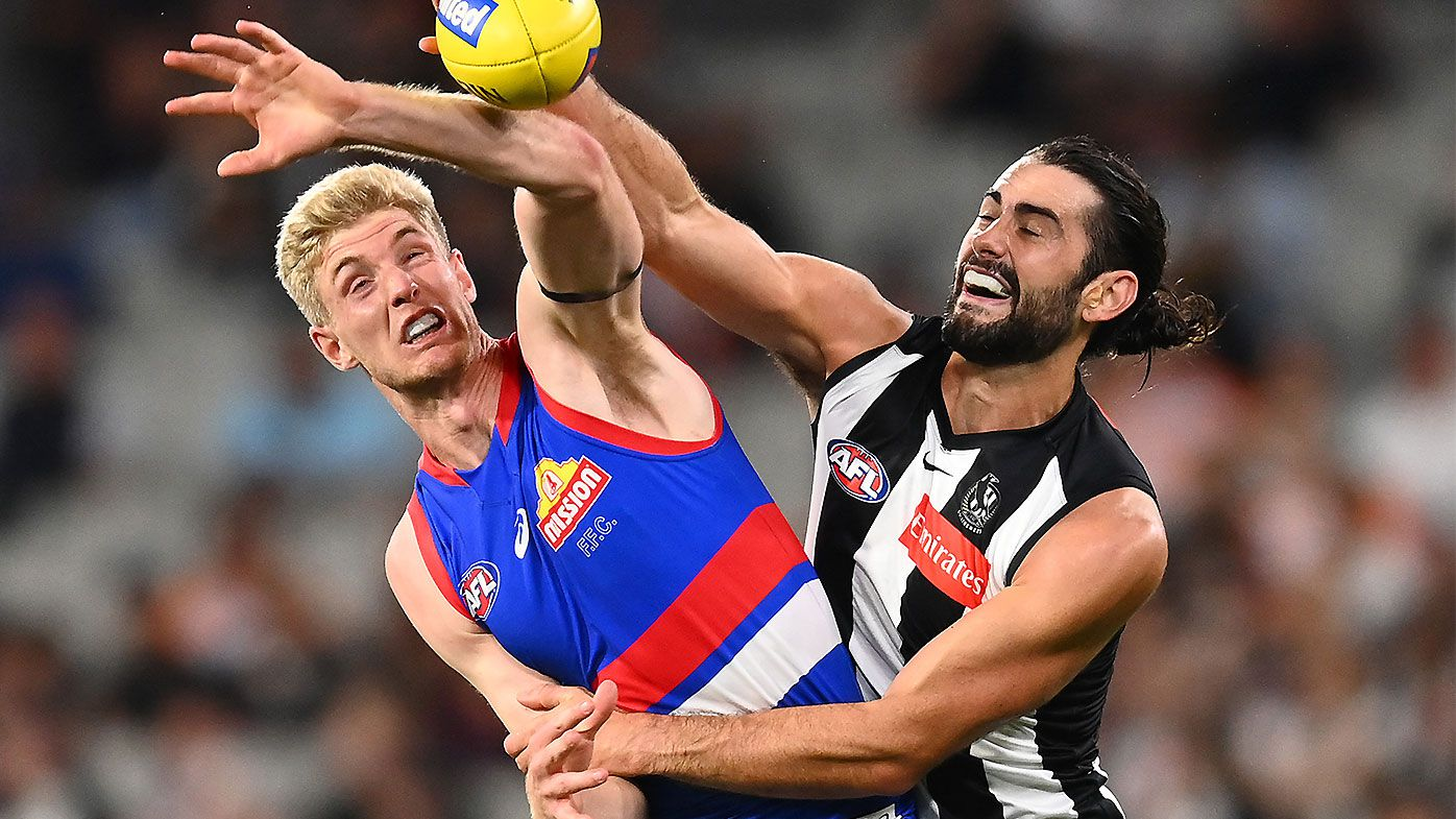 Brodie Grundy grilled after being overawed by Western Bulldogs' twin-towers