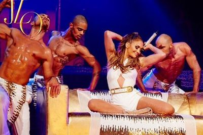 Diamonds may have been Marilyn Monroe's best friends. But looks like JLo is more into scantily-clad, oiled-up male models.<br/><br/>(Images: @gomillionandleupold via @jlo/Instagram)