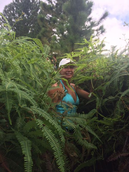 Ms Nikolic walking through the jungle. Picture: Facebook