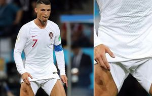 Forget rolling up your sleeves, Ronaldo has a different way of showing he means business