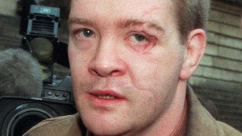 Princess Diana's bodyguard, Trevor Rees-Jones, who survived the crash that killed Diana, in a photo taken on December 19, 1997. (AAP)