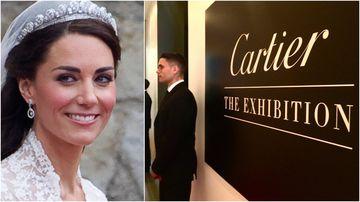Kate's wedding tiara the jewel in Cartier exhibition crown