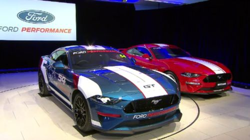 The new Ford Mustang will make its Aussie debut at the Adelaide 500 in March next year. (9NEWS)