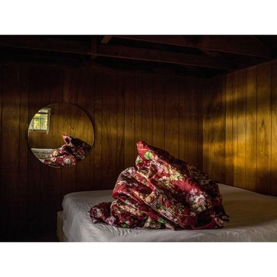 Photographer Noah Kalina used Gucci's bloom print to add to a long-running series of images he's published under the hashtag #bedmound. Talk about bedding goals.