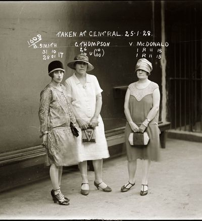 B. Smith, Gertrude Thompson and Vera McDonald, 1928