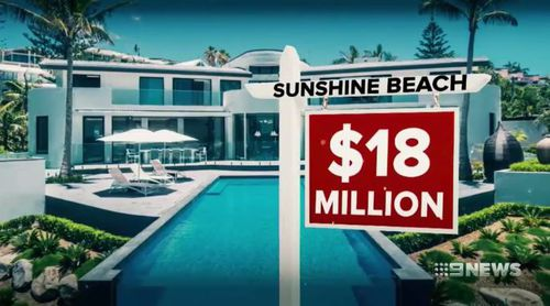 This Sunshine Beach property sold for a staggering $18 million. Picture: 9NEWS