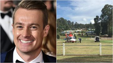 Grant Denyer is recovering in hospital after a crash during a Victorian car rally. (AAP/9NEWS)