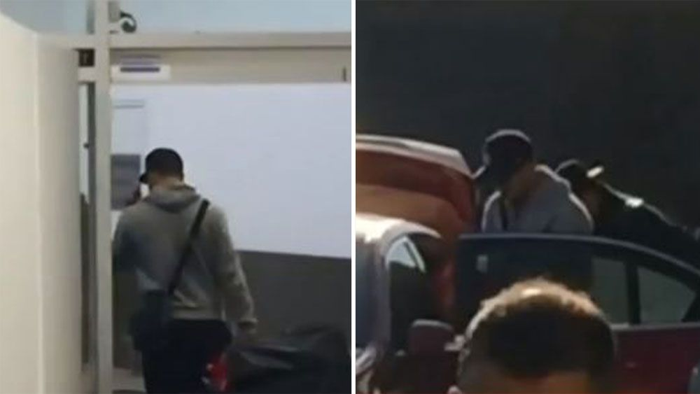 Jarryd Hayne arrives back in Sydney