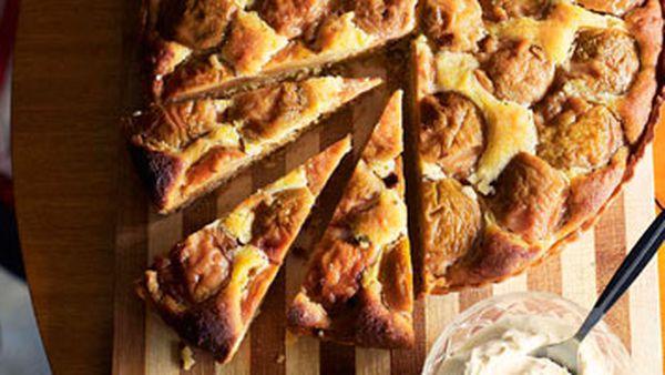 Quince & frangipane tart