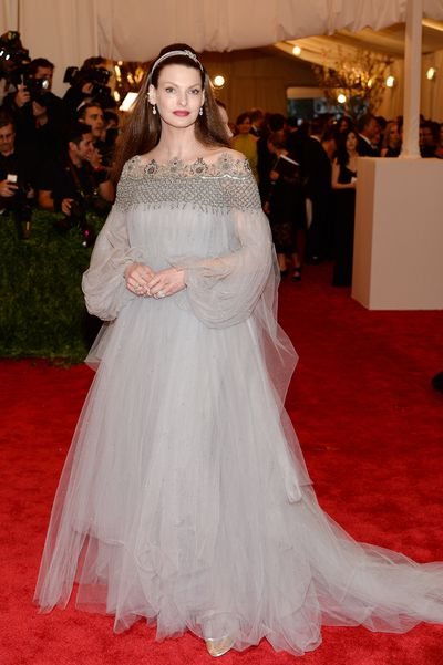 Georgina Chapman in Marchesa at the 2013 Met Gala <em>PUNK: Chaos to Couture&nbsp;</em>in New York