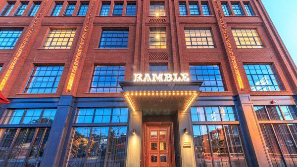 The Ramble hotel facade