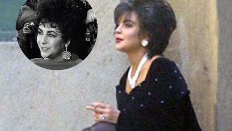 Lindsay rocking the '80s hair of Liz Taylor