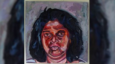 Myuran Sukumaran painted his mother Raji. (Facebook)