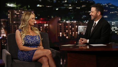 Stormy Daniels gave a very confusing interview to Kimmel earlier this year. (AAP)