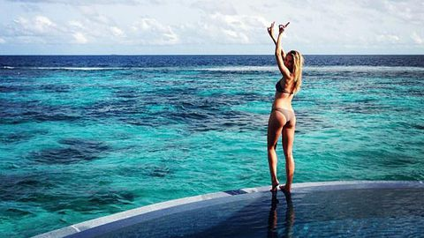 Jennifer Hawkins and Jake Wall's epic honeymoon hits the Maldives