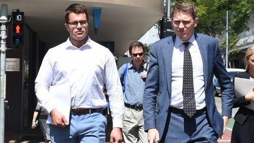 Mr Tostee enters court on day one of his trial. (AAP)