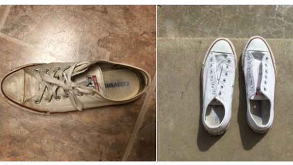 Before and after. Hello new sneakers! Image: Twitter/@Sarahtraceyy