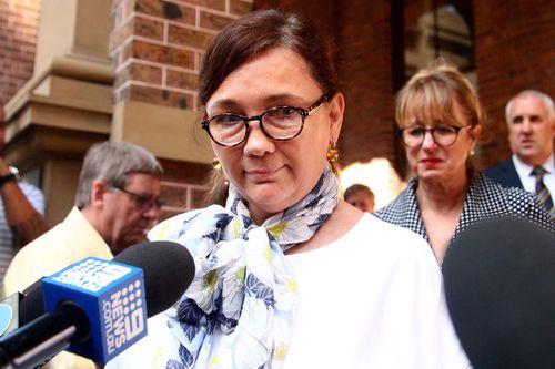 Kimberley McGurk speaks outside court today. (AAP)