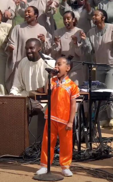 Kanye West, North West singing