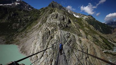 The Trift Bridge, Swiss Alps