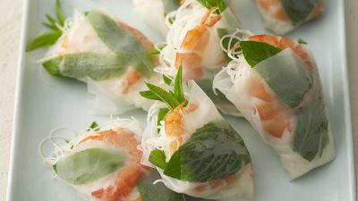 """Recipe: <a href=""""http://kitchen.nine.com.au/2016/05/19/12/02/vietnamese-prawn-cones"""" target=""""_top"""">Vietnamese prawn cones</a>"""