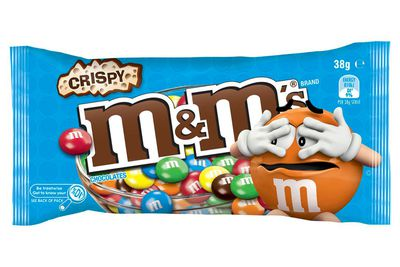 M&M's Crispy (38g bag): 194 calories/810kj
