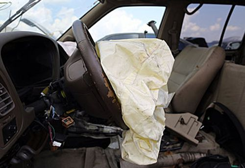 Airbag in crashed car Picture: Getty Images