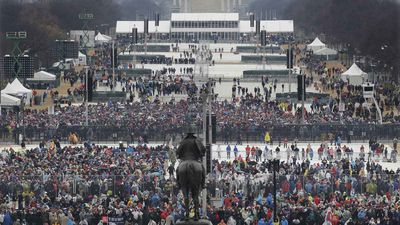 The inauguration crowd. (AAP)