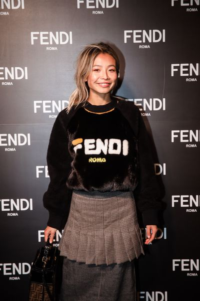 Yan Yan Chan at the opening of Fendi's new boutique in Collins Street Melbourne