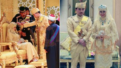 The ceremony reportedly took place in the 1,788-room palace, Istana Nural Iman in Brunei. (Supplied: Information Department Brunei)