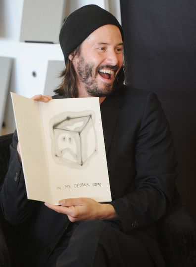 Keanu Reeves, Alexandra Grant, book, Ode to Happiness, book signing