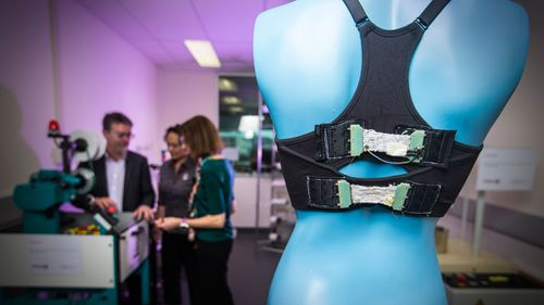 The bionic bra prototype is now ready for manufacture. (Supplied)