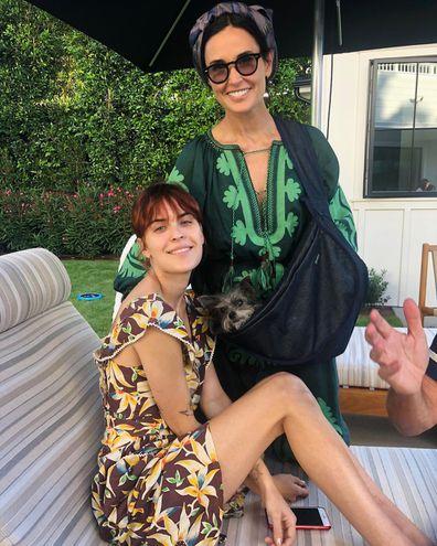 Tallulah Willis and mum Demi Moore.