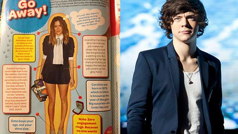 "'One of the most hurtful things I've ever read"": Harry Styles' 32-year-old ex slams fan mag's nasty cut-out voodoo doll"