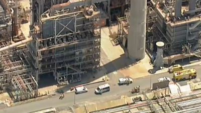 Worker rescued after falling into pipe track at refinery