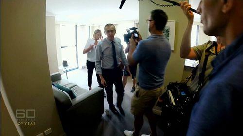 Markovic was confronted in a hotel room ambush. (60 Minutes)