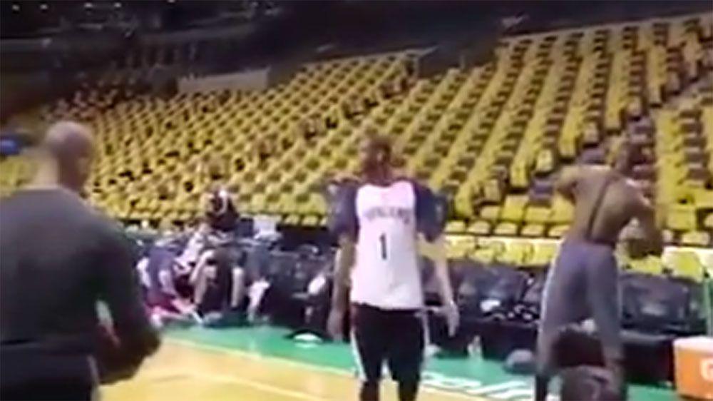 Lebron James nails full court basket before smashing BostonCeltics in NBA conference finals