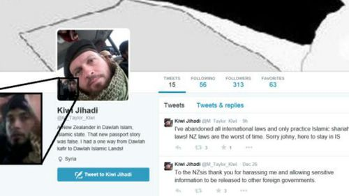 Several of the New Zealander's tweets clearly showed the faces of other ISIL fighters, providing valuable intelligence. (Supplied, iBRABO)
