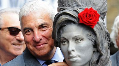 Relatives, including Winehouse's father Mitch (pictured), and fans of the musician gathered in Camden, the north London district where she lived until her death in 2011, to see what would emerge from a large black box. (Getty)
