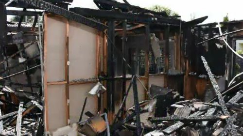 Stephens' mother's burnt down home last year. (File image)