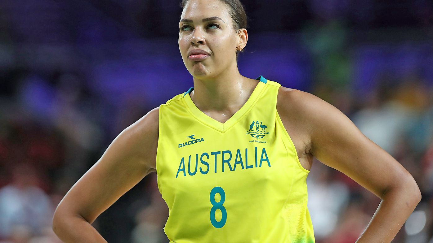 Elizabeth Cambage during the Women's Gold Medal Game at the Commonwealth Games